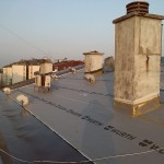 Vidikovac - pokrivanje krova falcovanim limom