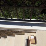 Okapnica na ogradi na Banjici